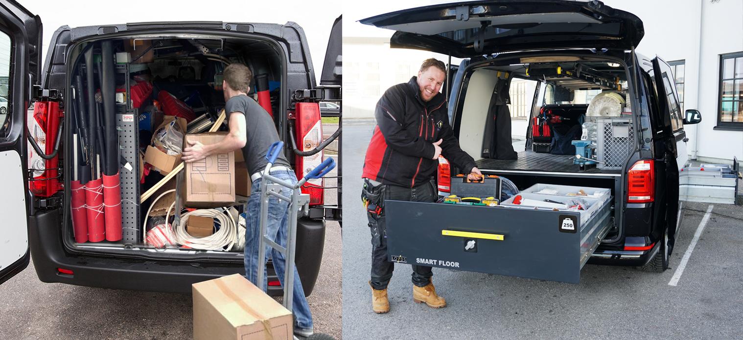 Ryddige håndverkere er mest effektive - Fremstå proff med ryddig varebil