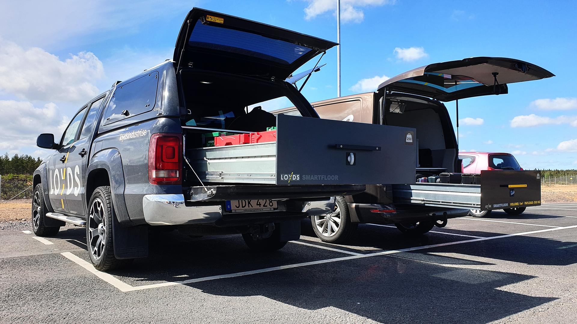 Bilinnredning og skuffer: Organisering av store skuffer i varerommet