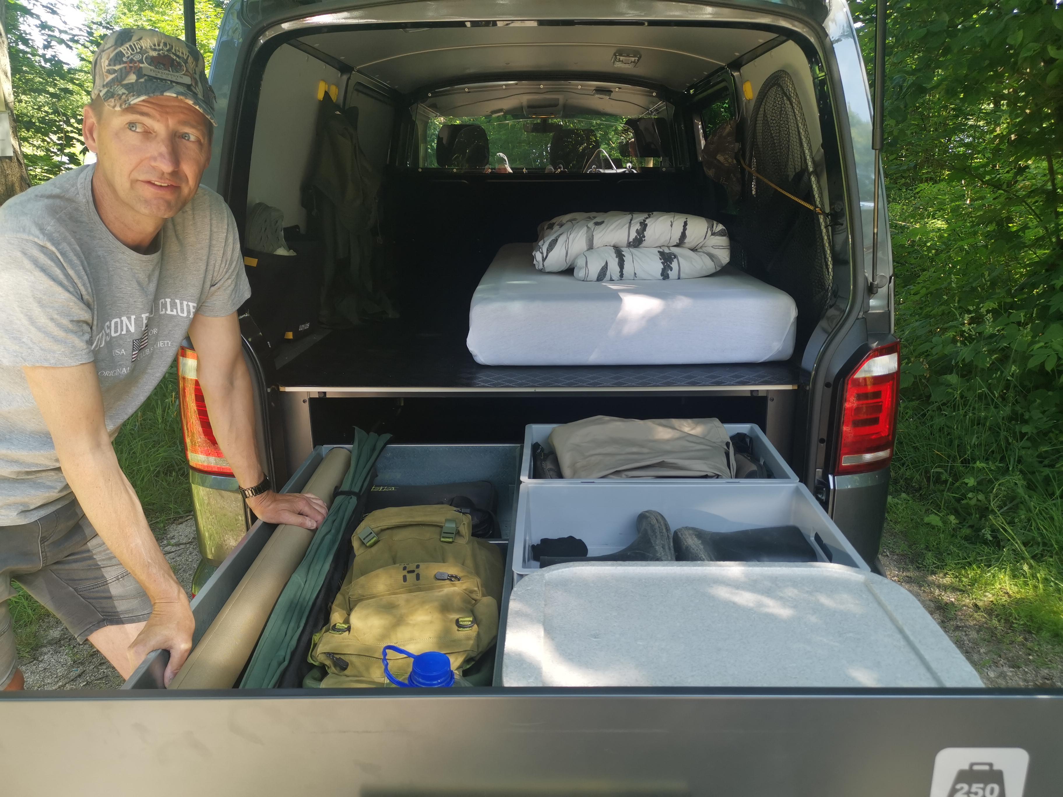 Transportbilen redo för såväl fiske som arbete